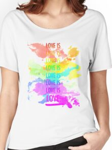 love is love rainbow splatter Women's Relaxed Fit T-Shirt