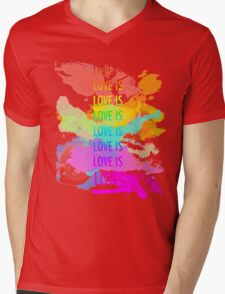 love is love rainbow splatter Mens V-Neck T-Shirt