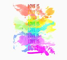 love is love rainbow splatter Unisex T-Shirt