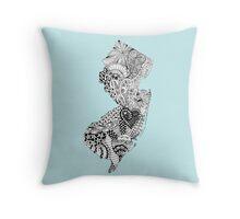 New Jersey Doodle Throw Pillow