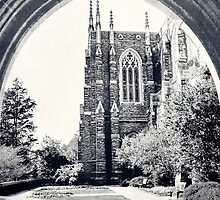 Through The Arch: Duke Chapel in Black and White by Kadwell