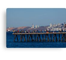 Pier on a Sunny Summer Day  Canvas Print