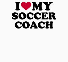I love my soccer coach Womens Fitted T-Shirt