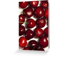 Background cherry Greeting Card
