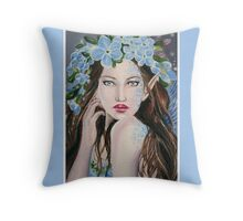 Forget me not fairy tote bag Throw Pillow
