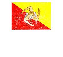 Distressed Sicily Flag Photographic Print