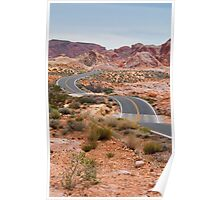 Road Winding through the Desert Southwest Poster