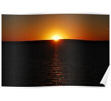 Sunset On Lake Superior 2 Poster