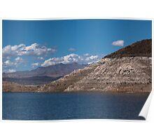 Mountain by Blue Lake Poster