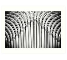 Pipes chairs Art Print