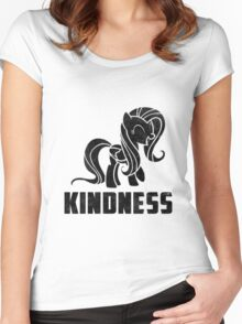 Fluttershy - Kindness Women's Fitted Scoop T-Shirt