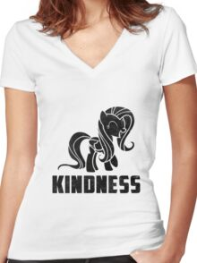 Fluttershy - Kindness Women's Fitted V-Neck T-Shirt