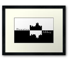 Downton Abbey Castle Silhouette Framed Print