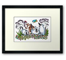 Looking for their Marbles Framed Print