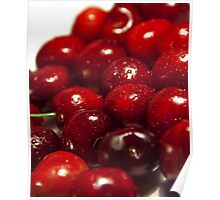 background of cherry fruit Poster