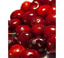background of cherry fruit Photographic Print