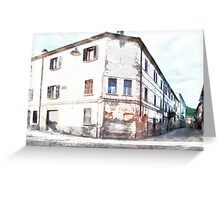 Fognano: building and street Greeting Card