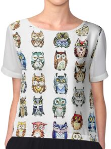 19 Owls and 1 Cat Chiffon Top