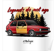 VW Golf GTI (red) Poster