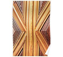 Abstract wood Poster