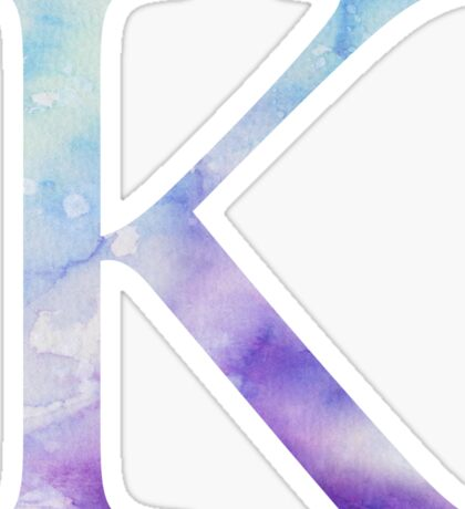 Blue Kappa Watercolor Letter Sticker