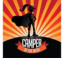 Female Camper of the week Photographic Print