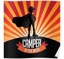 Male Camper of the week burst Poster