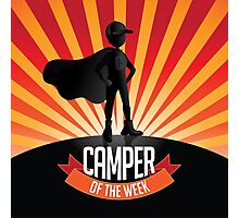 Male Camper of the week burst Photographic Print