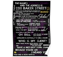 Sherlock Holmes Quotes Print Poster