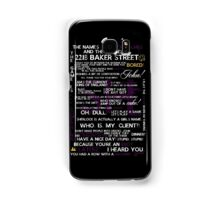 Sherlock Holmes Quotes Print Samsung Galaxy Case/Skin