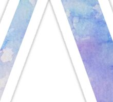 Blue Lambda Watercolor Letter Sticker