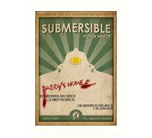 Submersible Power Armor Poster Art Print
