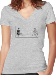 Ping-Pong. Women's Fitted V-Neck T-Shirt