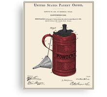 Gunpowder Can Patent Canvas Print