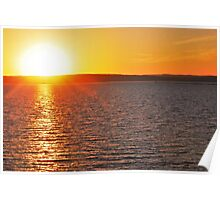 Sunset On Lake Superior 4 Poster