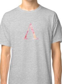 Pink Lambda Watercolor Letter Classic T-Shirt