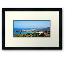 Coast Outside La Serena Chile Framed Print