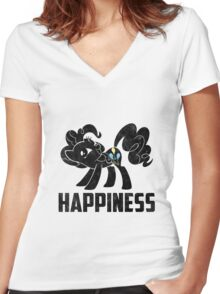Pinkie Pie - Happiness Women's Fitted V-Neck T-Shirt