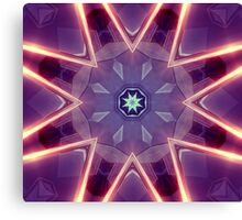 Sci-Fi Flower Kaleidoscope Canvas Print
