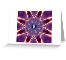 Sci-Fi Flower Kaleidoscope Greeting Card