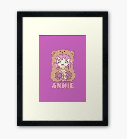 Annie chibi Framed Print