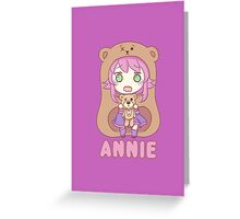 Annie chibi Greeting Card