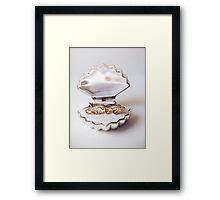 gold ring in a box Framed Print