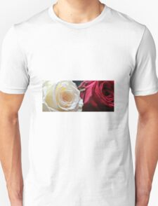 red and white rose Unisex T-Shirt