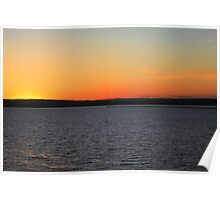 Sunset On Lake Superior 5 Poster
