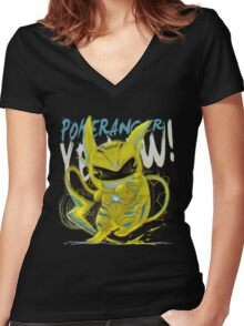 YELLOW! Women's Fitted V-Neck T-Shirt