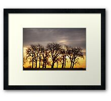 Dancing to the Sunset Framed Print