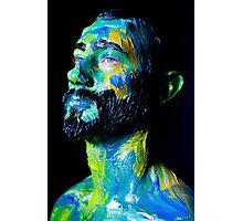 Colourful expressive portrait painting Photographic Print