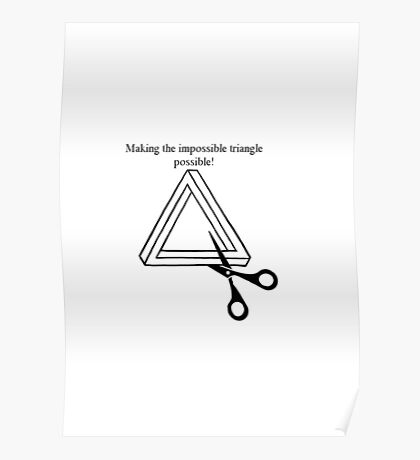 Impossibly possible triangle Poster