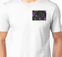 Spiral On Down - Beige Iris on Black Unisex T-Shirt